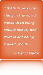 Akins Berry Communications Oscar Wilde Quote